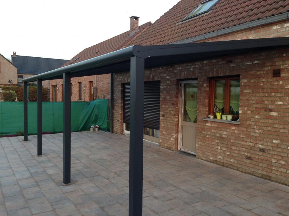 Pergolas pergolas pergola toiture polycarbonate stores ath mons belgique - Pergola en polycarbonate ...